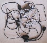 tangle of electronics cords