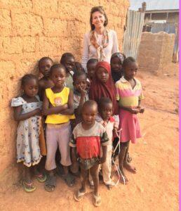Rebecca Tinsley with children in northern Nigeria
