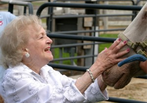 Actress and horse activist Betty White